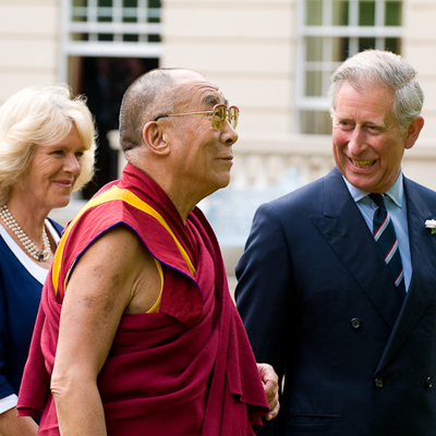 His Holiness The Dalai Lama with Charles, Prince of Wales