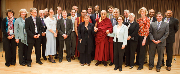 His Holiness The Dalai Lama with Members of the MIT Steering Commitee