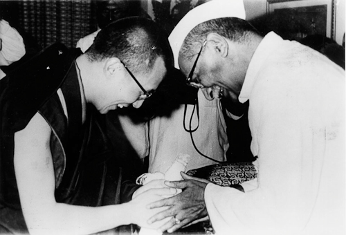 His Holiness The Dalai Lama with President Rajendra Prasad of India