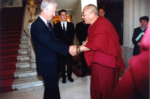 His Holiness The Dalai Lama with The President of Belgium