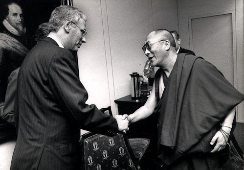 His Holiness The Dalai Lama with The Dutch Prime Minister