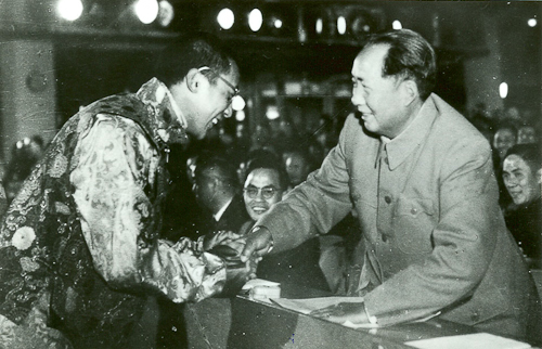 His Holiness The Dalai Lama with Mao Zedong