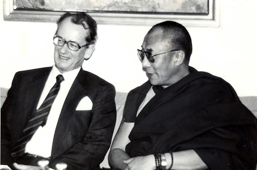 His Holiness The Dalai Lama with Norwegian Prime Minister