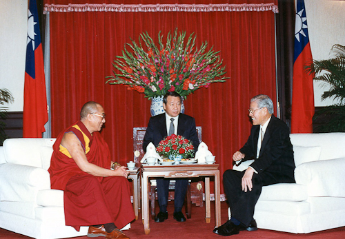 His Holiness The Dalai Lama with The President of Taiwan