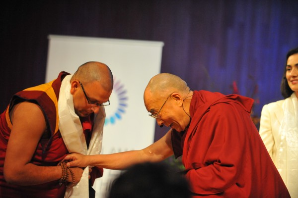 His Holiness the Dalai Lama & Venerable Tenzin Priyadarshi