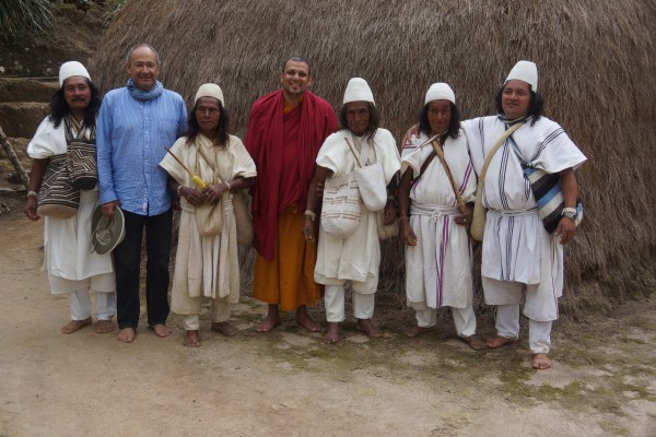 Leaders of Arhuaco during a meeting to discuss impact of conflict and climate change on the indigenous communities in Sierra Nivada de Santa Marta region in Colombia.