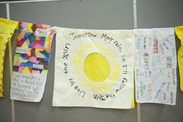 Gratitude Flags done by Young Peace Leaders