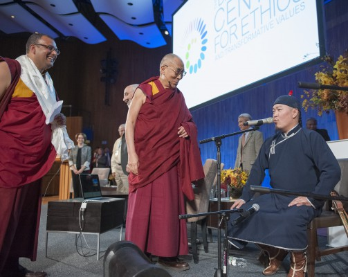 The Dalai Lama with Singers from Tuva