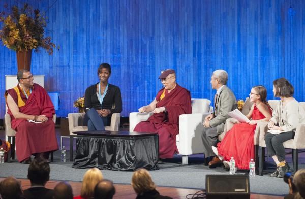 Panelists: The Dalai Lama, Jaccarea Garraway, Noa Machover, Vivianne Harr, & Tenzin Priyadarshi